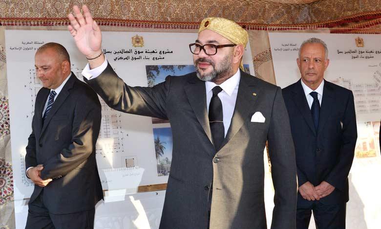 S.M. le Roi lance le projet d'aménagement  de «Souk Assalihine» à Salé