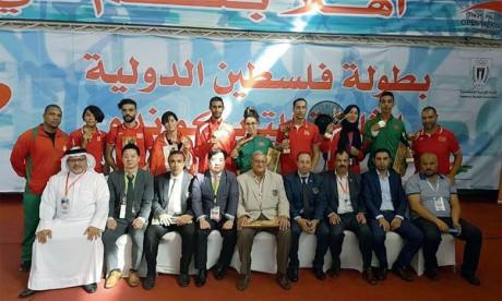 Le Maroc récolte 12 médailles  et se classe deuxième à Ramallah