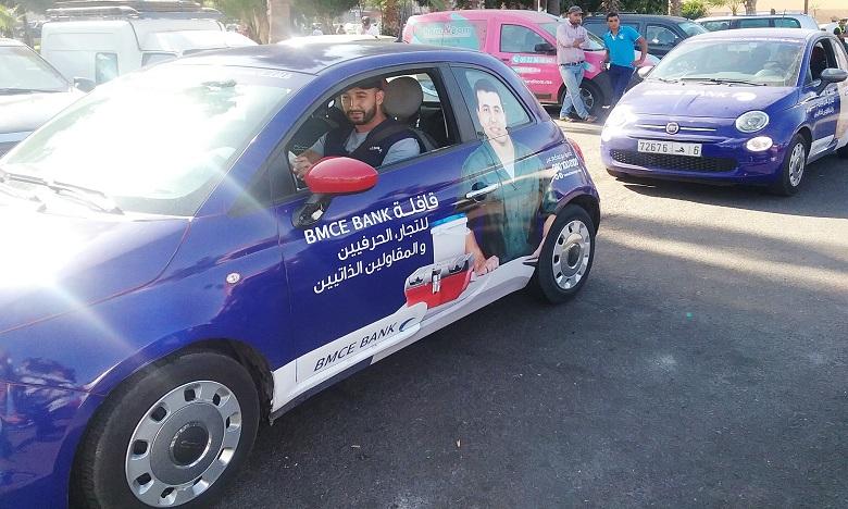 La Caravane des Pros de BMCE Bank au profit Auto-Entrepreneurs, Commerçants & Artisans s'étale sur 24 jours d'animation, avec des convois de 10 véhicules dans 27 villes du Royaume. Ph : DR