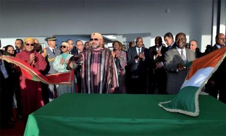S.M. le Roi inaugure le Centre multisectoriel de formation professionnelle «Mohammed VI» de Yopougon à Abidjan et y lance les travaux de construction d'un Internat