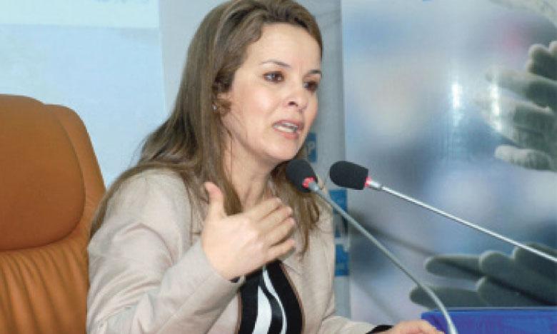 La secrétaire d'État chargée de l'Eau, Charafat Afilal.