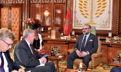 S.M. le Roi Mohammed VI a reçu, mardi 17 octobre à Rabat,  Horst Köhler nouvel envoyé personnel  du Secrétaire général des Nations unies pour le Sahara