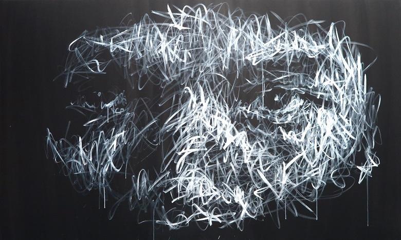 Hom Nguyen, Ligne de Vie, 2017, 130 x 195 cm, acrylique sur toile, ©A2Z Art Gallery.