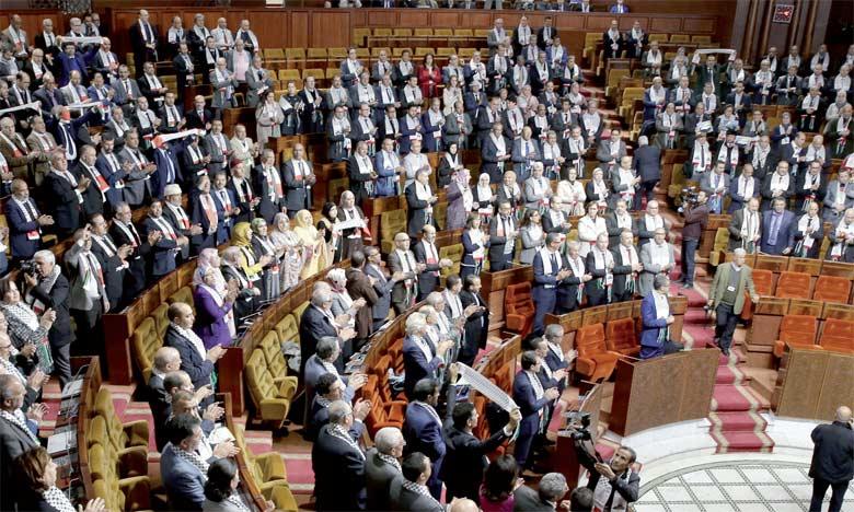 Les groupes parlementaires des deux Chambres ont souligné qu'Al-Qods a été et restera à jamais la capitale de la Palestine.                                                                                          Ph. MAP