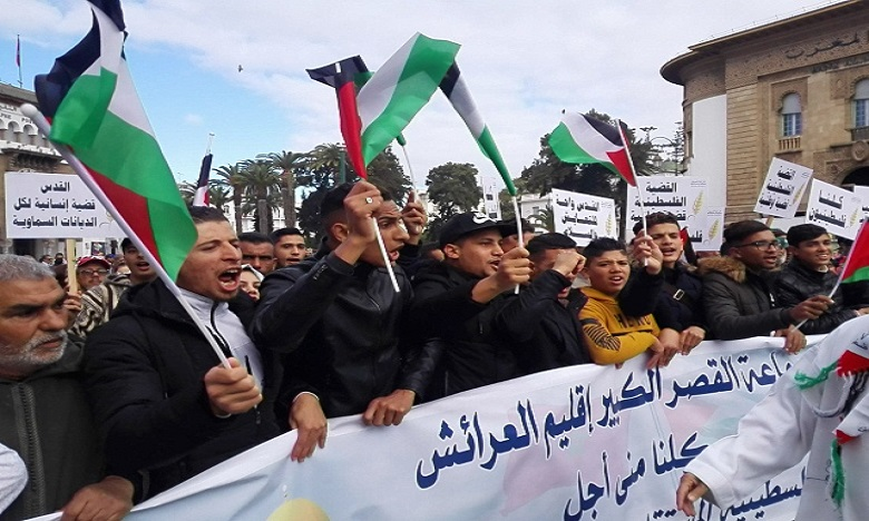 Forte mobilisation à Rabat pour dénoncer la décision américaine
