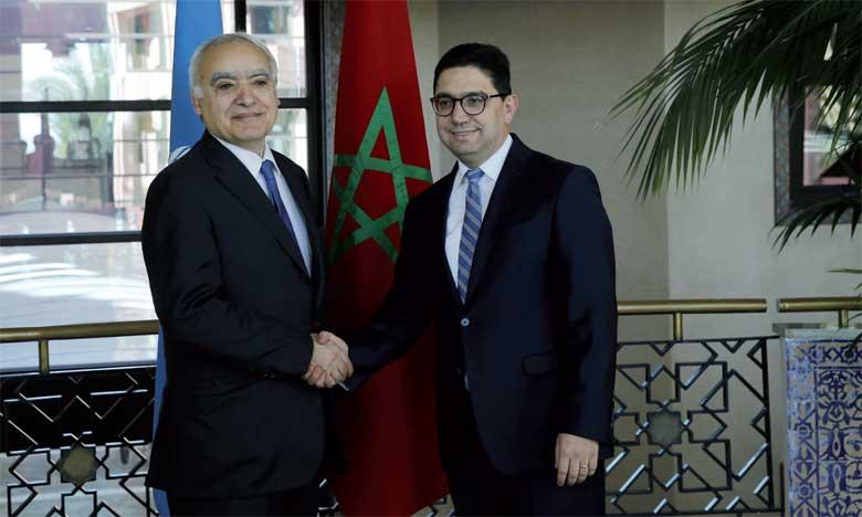 Nasser Bourita souligne que S.M. le Roi Mohammed VI accorde un intérêt particulier au dossier libyen