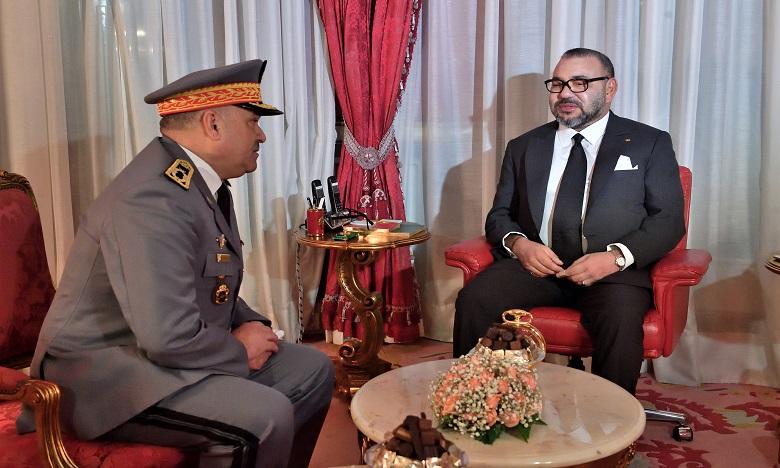 Sa Majesté le Roi Mohammed VI reçoit le général de division Mohamed Haramou et le nomme commandant de la Gendarmerie royale