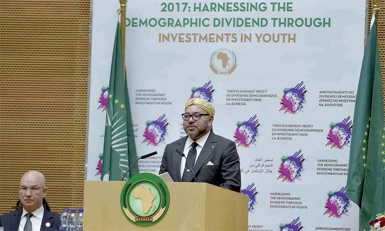 31 janvier 2017 : S.M. le Roi prononce un discours devant le 28e Sommet de l'Union africaine à Addis-Abeba.