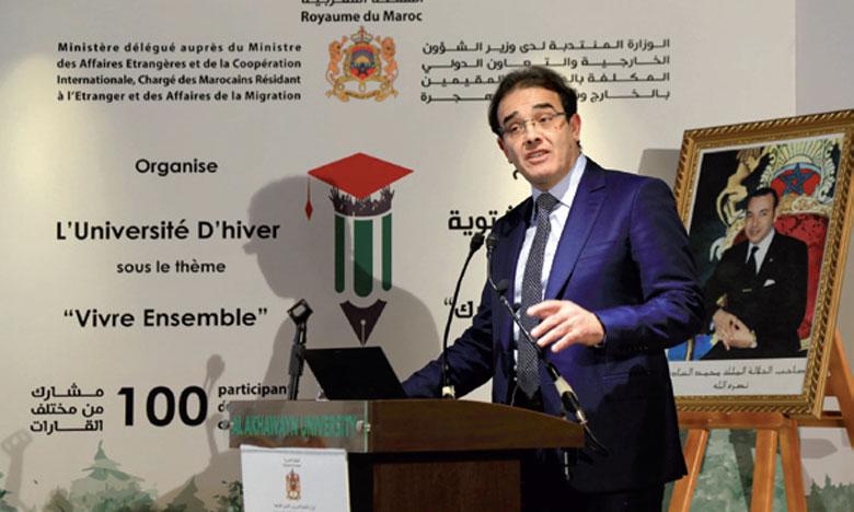 En marge de cette séance de lancement des conventions de partenariat ont été signées afin d'assurer le bon déroulement des futures universités programmées en faveur des Marocains du monde.