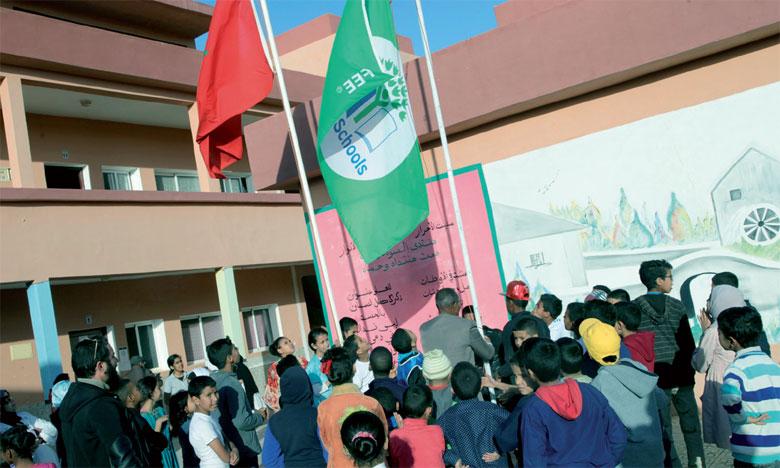 Le «Pavillon vert» hissé  dans deux établissements  d'enseignement à Laâyoune