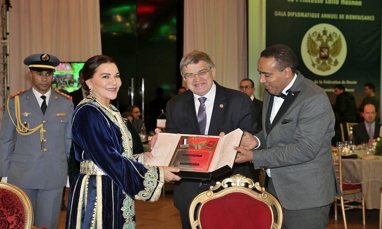 S.A.R. la Princesse Lalla Hasnaa préside à Rabat le dîner de Gala diplomatique de bienfaisance