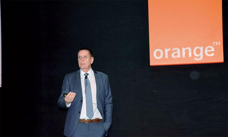Yves Gauthier, DG d'Orange Maroc, a annoncé «officiellement», lors de la célébration d'un an de déploiement de la marque Orange, le 7 décembre à Casablanca, que l'opérateur n'est plus intéressé par le dégroupage. Ph. Saouri