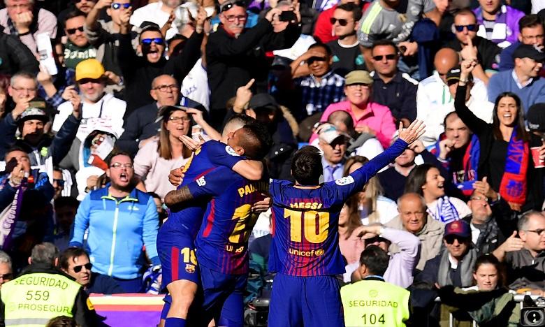 Le Barça assomme le Real 3-0 à Madrid et s'envole en tête de la Liga