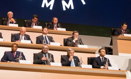 Sa Majesté le Roi Mohammed VI prend part à Paris aux travaux  du Sommet international sur le climat «One Planet Summit»