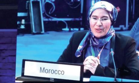 Nezha El Ouafi présente le modèle marocain  à l'Assemblée des Nations unies sur l'environnement
