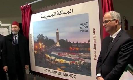 Émission d'un timbre-poste spécial dédié à la mythique Place Jemaa El Fna