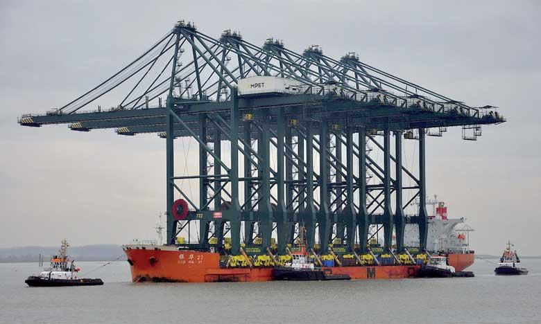 Les premiers portiques  de Tanger Med 2 arriveront le 1er février
