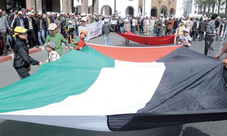 Marche nationale à Rabat pour condamner  la décision de l'administration américaine