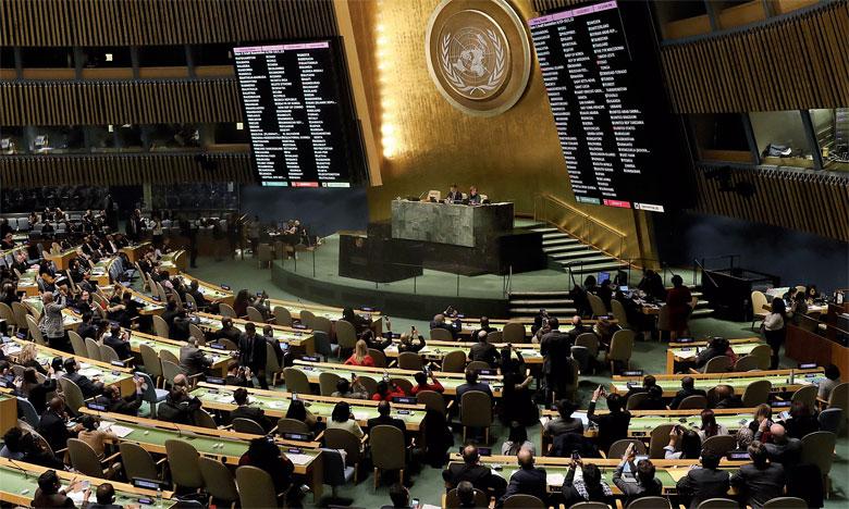En dépit des menaces américaines, l'Assemblée générale de l'ONU adopte une résolution  condamnant la décision de Washington