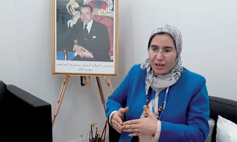 La Secrétaire d'État chargée du Développement durable, Nezha El Ouafi.