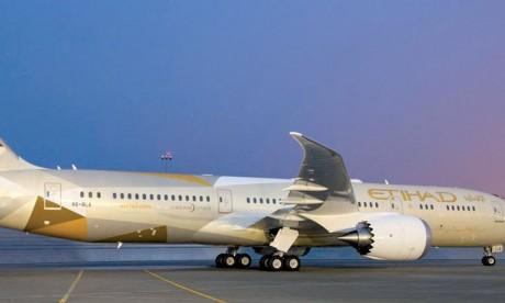 Etihad Airways déploiera un Dreamliner sur la ligne Abu Dhabi-Casablanca