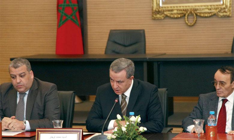 Le nouveau président de l'Unité de traitement du renseignement financier, Jaouhar Enfissi ( à gauche de la photo).Ph. MAP