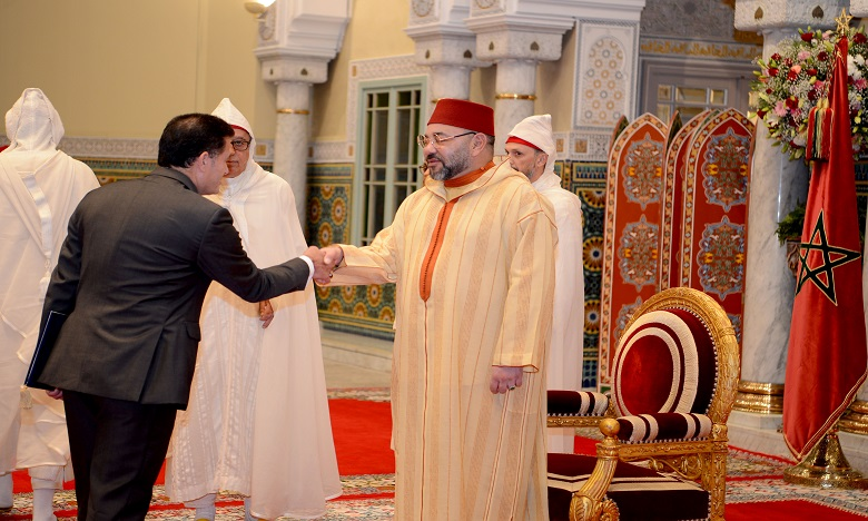 Sa Majesté le Roi Mohammed VI reçoit plusieurs ambassadeurs étrangers venus présenter au Souverain leurs lettres de créance