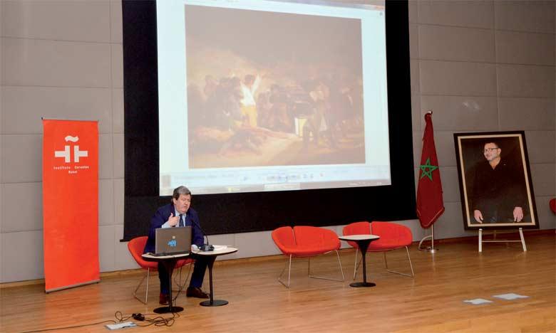 La conférence a mis en relief l'importance de cette exposition composée de plus de 70 pièces, donnant un aperçu  des plus complets sur l'art espagnol.                                                                                                                                                     Ph. Kartouch