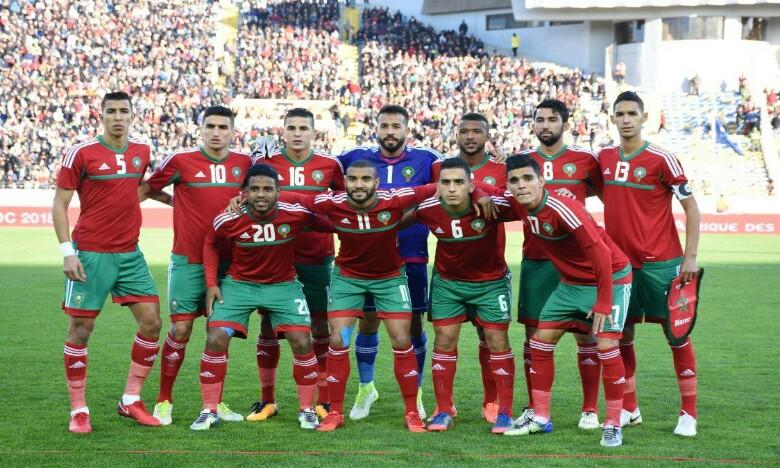 Le Maroc mène 1-0 à la mi-temps