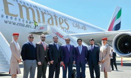 Emirates aux petits soins  avec les Marocains