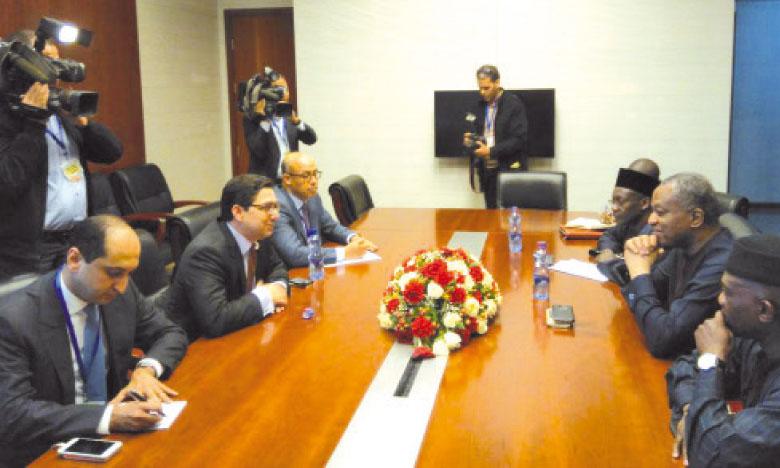 Nasser Bourita s'entretient à Addis-Abeba avec son homologue nigérian
