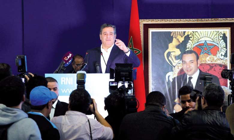 Aziz Akhannouch : «Nous ambitionnons  de faire du RNI un parti d'institutions et non de personnes»