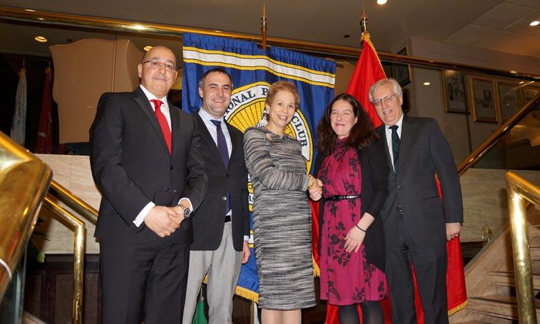 Lalla Joumala Alaoui s'entretient avec la présidente du National Press Club