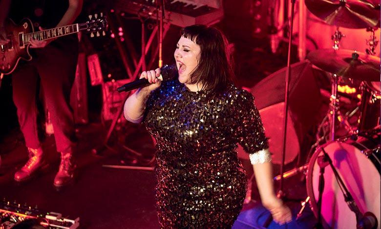 Beth Ditto en concert à Casablanca