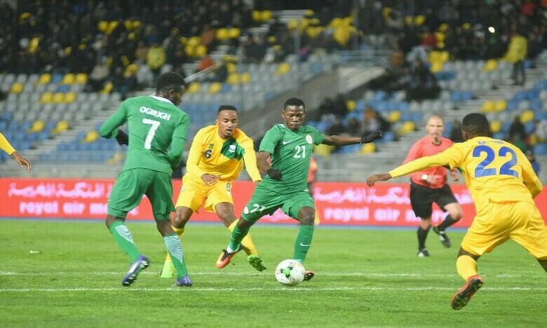 Le Nigeria tenu en échec à la mi-temps par le Rwanda
