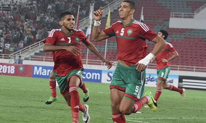 Mohamed Ounajem et Jaouad El Yamiq lors du match retour face à l'égypte.