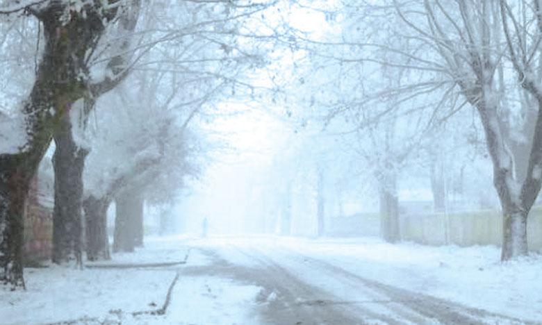 Pluies et chutes de neige  avec baisse des températures dans plusieurs régions  du Royaume de vendredi  à mardi