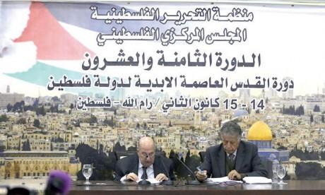 Le conseil central appelle l'OLP à suspendre  la reconnaissance d'Israël