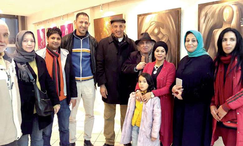 Exposition collective à la galerie Nadira d'artistes de la capitale du Gharb