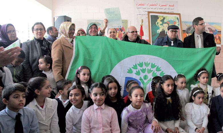 Le label «Pavillon vert» attribué à l'école publique «Abdelmoumen» de Rabat