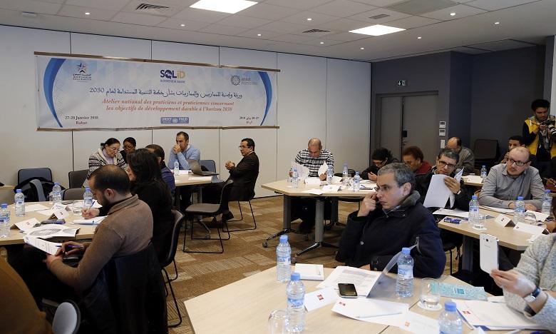 L'atelier national de travail des praticiens sur les ODD à l'horizon 2030, vise à renforcer les compétences de la société civiles pour les assister à mettre en place des outils de monitoring.Ph : MAP