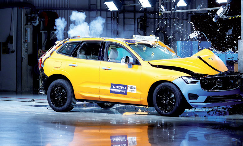 Le Volvo XC60 élu véhicule le plus sûr dans sa catégorie