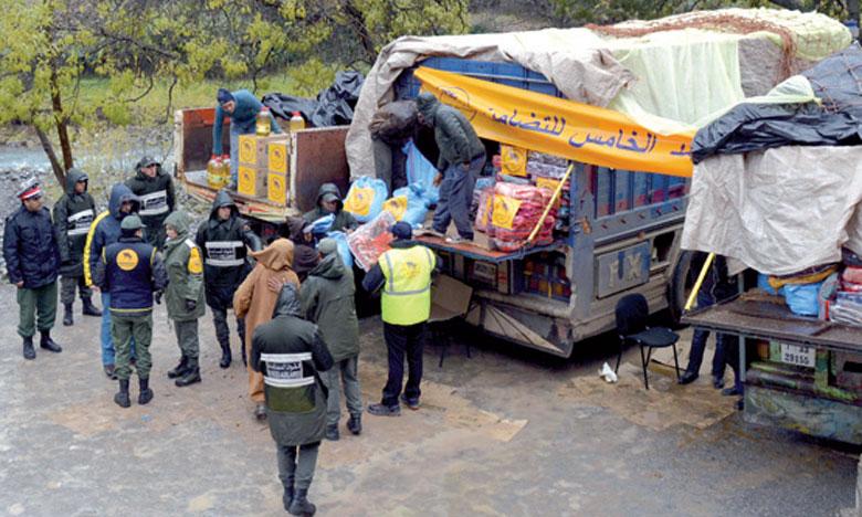 La Fondation Mohammed V pour la solidarité octroie  des aides à 966 familles  à Khénifra