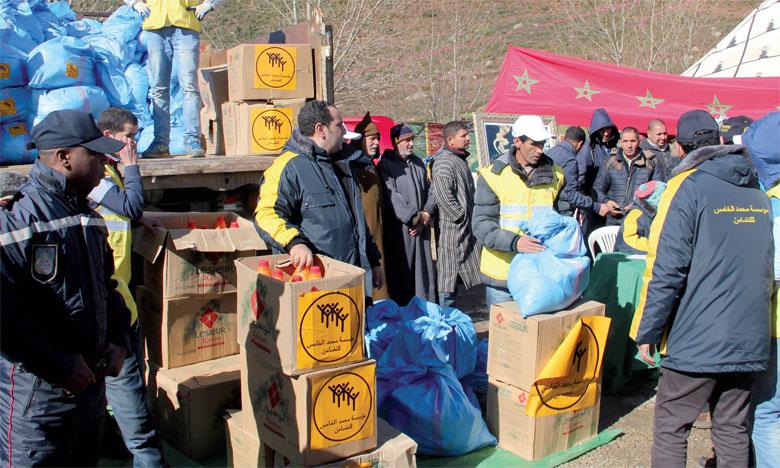 La Fondation Mohammed V pour la solidarité procède à la distribution d'aides à 1.638 familles  en situation difficile à Azilal...