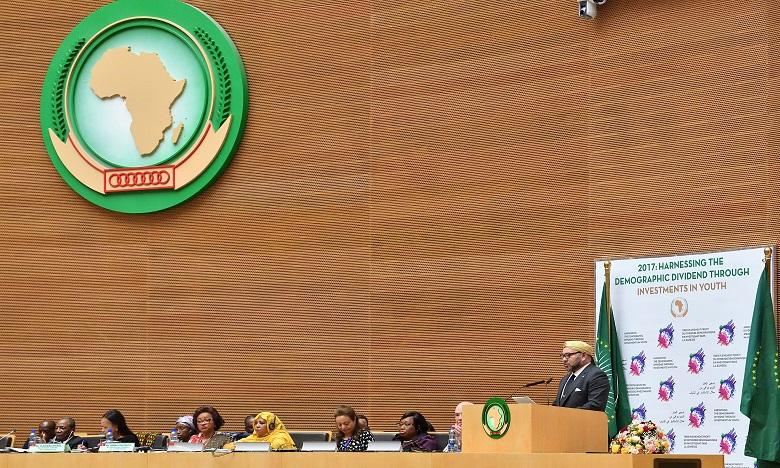 Sa Majesté le Roi adresse un message au 30e Sommet de l'Union africaine et lui soumet un document constituant l'«Agenda africain pour la migration»