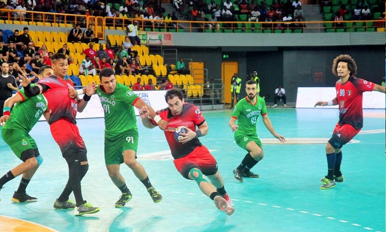 La sélection marocaine de hand-ball, éliminée en demi-finale de la 23e CAN de Handball-Gabon 2018 par l'Egypte (19-31), est toujours en course pour la 3e place qualificative au championnat du Monde 2019. Ph : DR