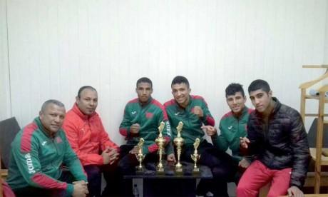 Les pugilistes marocains décrochent  4 médailles, dont 2 en or.