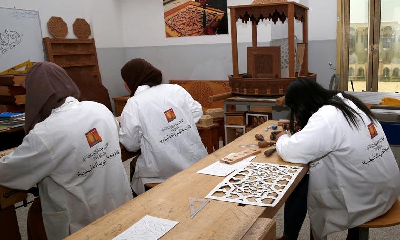 L'Académie des arts traditionnels œuvre à former des étudiants dotés de connaissances indéniables et d'une maîtrise des métiers de l'artisanat. Ph : MAP