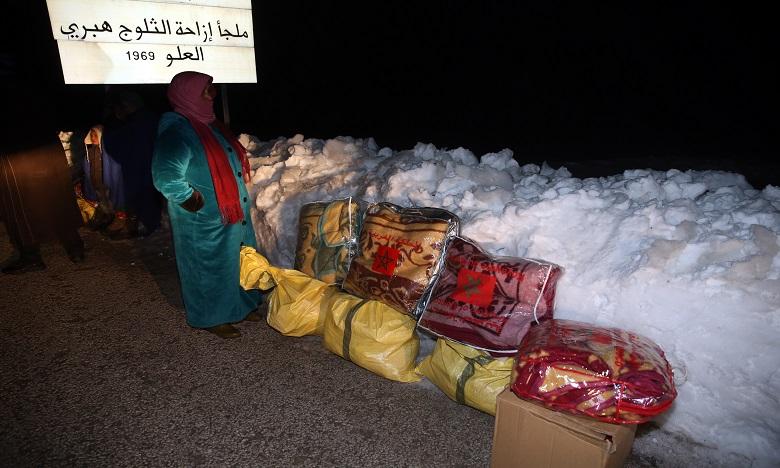 Mobilisation de tous les moyens logistiques et humains pour apporter aide aux citoyens et atténuer les effets de la vague de froid et des chutes de neige exceptionnelles