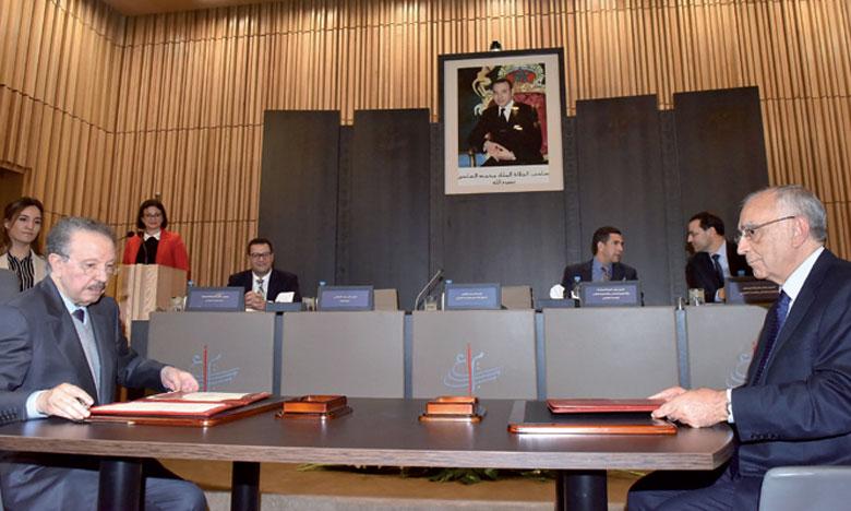 Les conventions signées reflètent la détermination du Conseil à adopter une approche participative dans l'élaboration et la mise en œuvre des orientations de la vision stratégique de la réforme 2015-2030.Ph. Kartouch